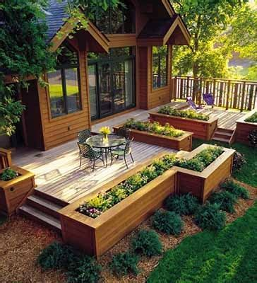 Raised Garden Patio Raised Garden Beds Patio Deck Landscaping Hardscaping