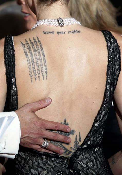angelina jolie wedding tattoo best hebrew tattoos ideas with meaning