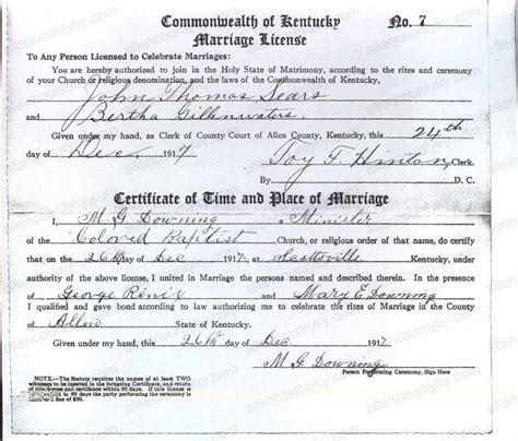 Collin County Marriage Records Database 1917 Marriage Records