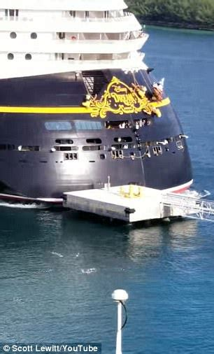 boat crash dream disney cruise ship collides with metal pier in the bahamas