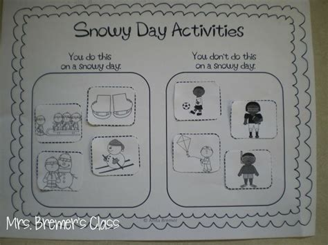kindergarten activities book snowy day free the snowy day activity sort marshall ideas pinterest