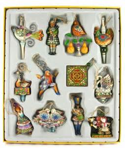 jim shore twelve days of christmas ornaments box set