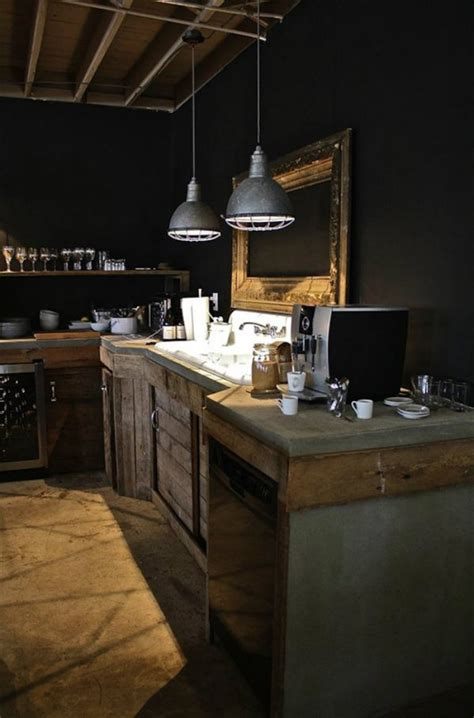 industrial ls in a rustic kitchen kitchen pinterest