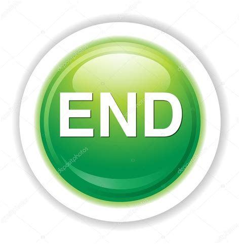 Button 1 End end button icon stock vector 169 sarahdesign85 70279627