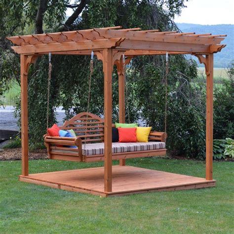a l furniture co cedar pergola marlboro swing bed set