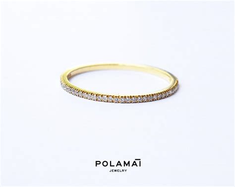 eternity ring 1 2mm 18k micro pave eternity ring