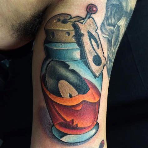 new school bottle tattoo bottle by vincent zattera tattoonow