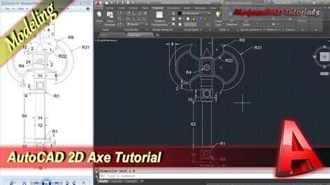 tutorial autocad 2d youtube autocad classes 2d modeling tutorial axe practice exercise