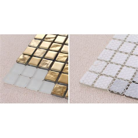 Decorative Glass Tile by Golden Glass Mosaic Tiles Pattern For Wall Decorative
