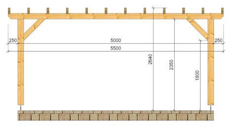 terrassenüberdachung 5 00 x 3 50 pergola cagne socab 3 50x5 00m coupe sur pan socab