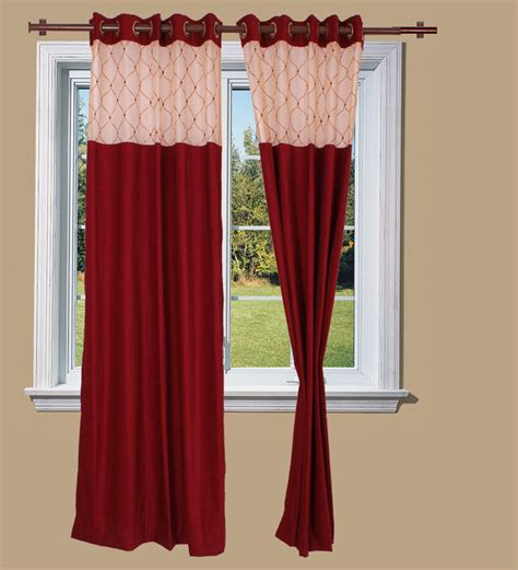 just curtains just linen maroon chenille door curtain 7 ft by just
