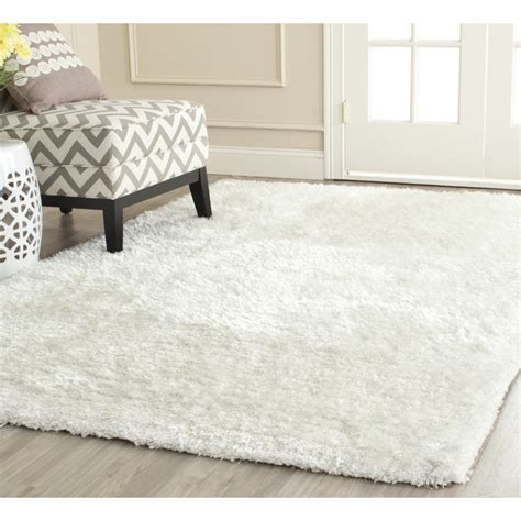 Safavieh White Rug Safavieh South Snow White Shag Rug Reviews Wayfair