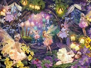 Disney Wall Decor Fairy Garden Wallpaper Wallpapersafari