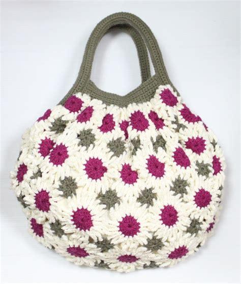 crochet pattern flower bag flower crochet bag craft ideas pinterest