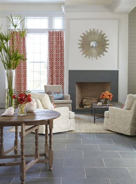 slate floors in living room slate fireplace cottage living room tracery interiors