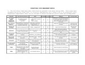 operational risk policy template risk management worksheet fillable fioradesignstudio