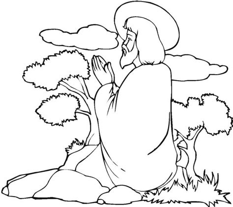 coloring pictures of jesus praying jesus praying mountain coloring page coloring pages