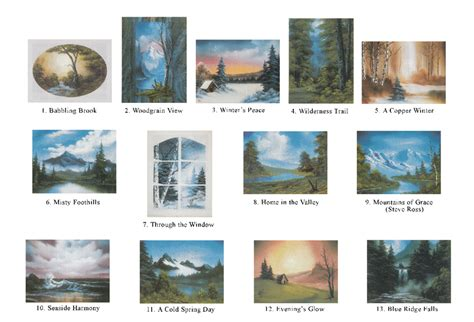 bob ross painting books of painting book series 30