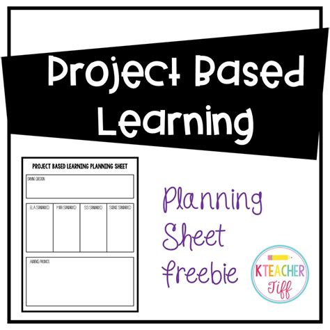 Project Based Learning In Kindergarten Kteachertiff Project Based Learning Planning Template For Students