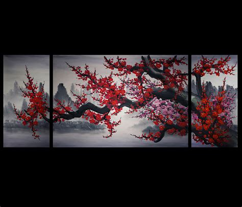 original art wall decor home decor modern art european art chinese cherry blossom painting original modern wall art decor