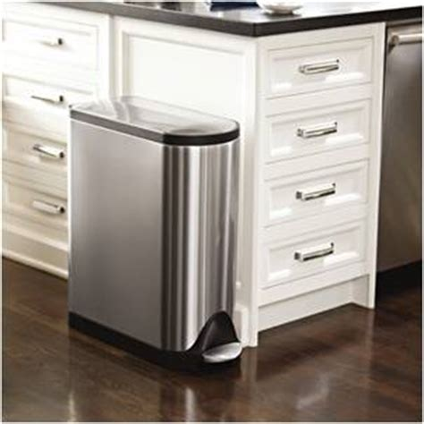 Under Cabinet Wastebasket Kitchen Guide To Stainless Steel Kitchen Step Trash Cans