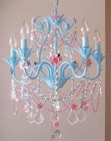 pretty blue and pink chandelier it s a chandelier thing