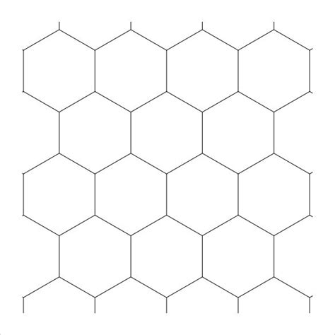 hexagonal template sle hexagonal graph paper 8 free documents in pdf word