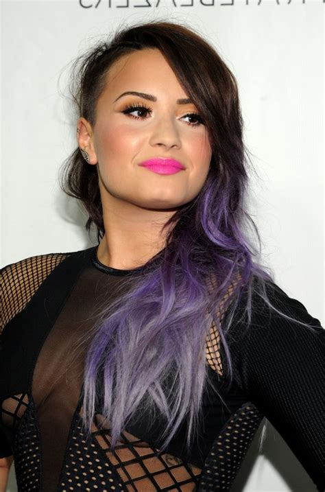demi lovato casual french twist with side swept bangs 26 popular long hairstyles for winter 2014 2015 pretty