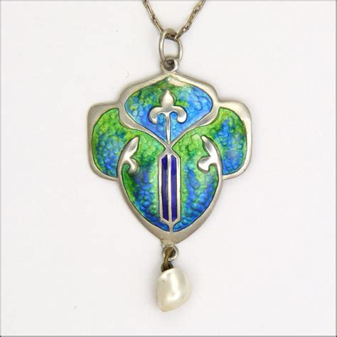 necklace craft arts and crafts silver enamel pendant necklace