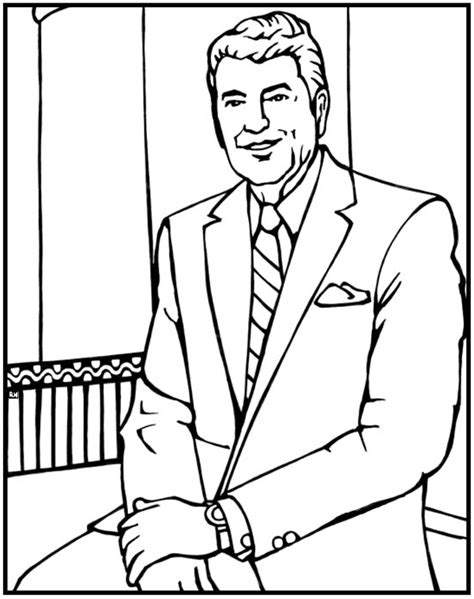 ronald reagan coloring page purple kitty