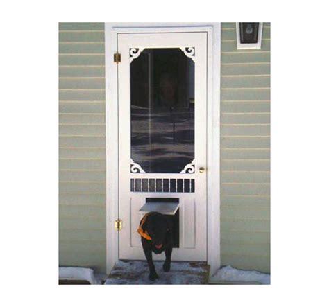 Screen Door With Doggie Door by Doggie Doors