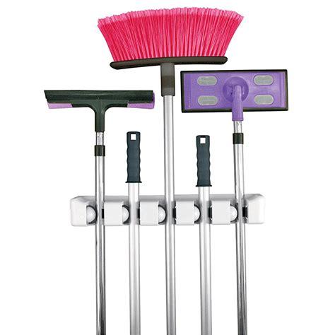 evriholder magic broom stick handle holder wall mount