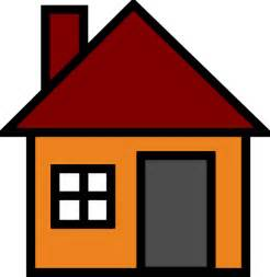 Home Clipart Orange House Clip At Clker Vector Clip