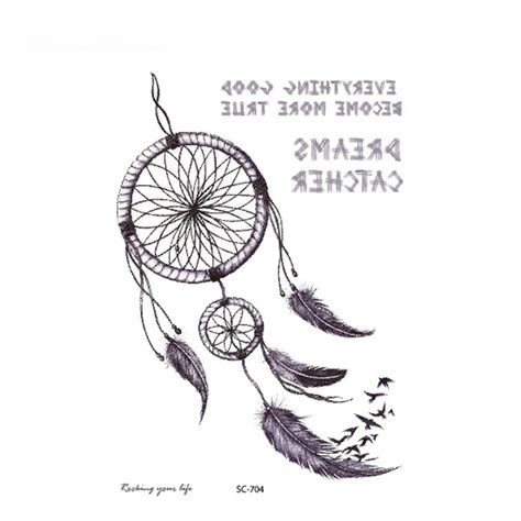 dreamcatcher tattoo temporary indian tribe design temporary tattoo sticker dreamcatcher