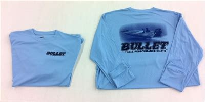bullet boat graphics bullet long sleeve performance jersey blue with boat graphics