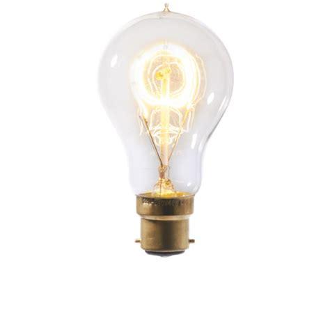 vintage light bulb standard loop filament bayonet