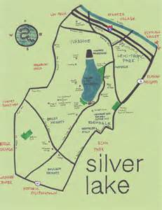 map of silver lake california ink map of silver lake 2 5 pendersleigh sons