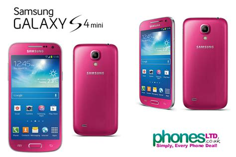 pink samsung galaxy s4 mini cheapest contract deals best prices phone images