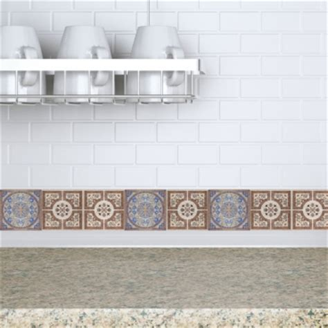 Kitchen Backsplash Stickers by Decorative Tiles Stickers Lisboa Pack Of 16 Tiles Tile