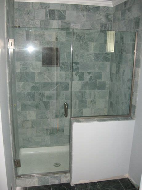 bathtub half glass panel modern showers glass half wall heavy glass door with