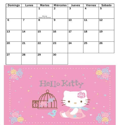 www auh mes noviembre 2016 hello kitty blog kitty calendario