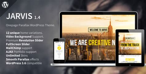Theme Wordpress Jarvis | jarvis themeforest onepage parallax wordpress theme