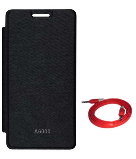 Flip Cover Leather Syntetic Book Cover Lenovo A6000 A6000 Plus tbz synthetic flip cover for lenovo a6000 black buy