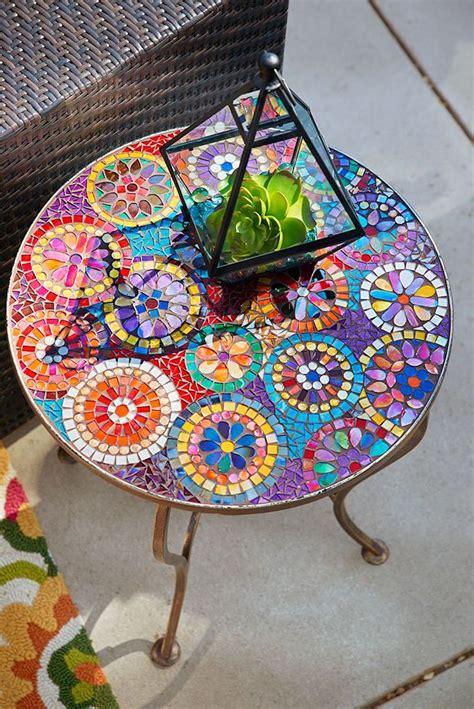 Table Basse Mosaique by D 233 Co Jardin Avec Mosa 239 Que En 28 Beaux Exemples
