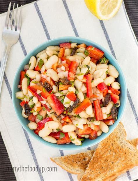 4 protein rich salads high protein white bean salad 10 min vegan hurry the