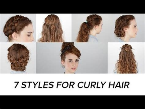 quick and easy hairstyles for curly hair for tweens 7 easy hairstyles for curly hair beauty junkie youtube