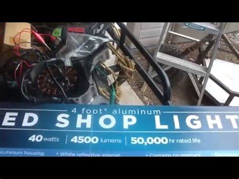 lights of america led shop light lights of america 4ft led shop light review 36