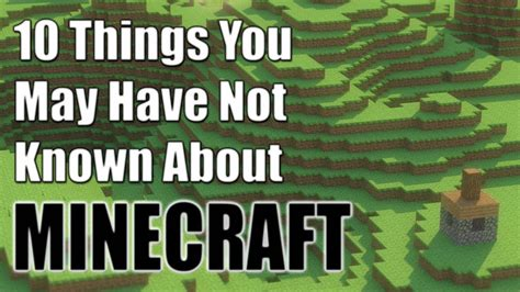 Minecraft 10 Things You Might Not Know About Minecraft - maxresdefault jpg