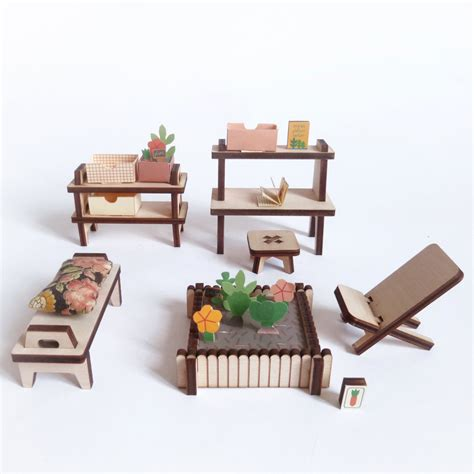 Paper For Furniture by Winter Garden Wooden And Paper Furniture Kit For Doll S