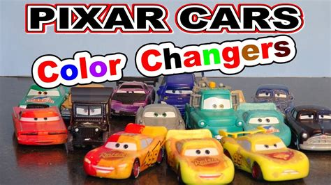cars color changers pixar cars more color changers with 3 lightning mcqueen s